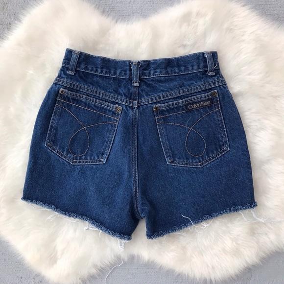 Calvin Klein Pants - VTG 90s High Waisted Calvin Klein Jean Shorts